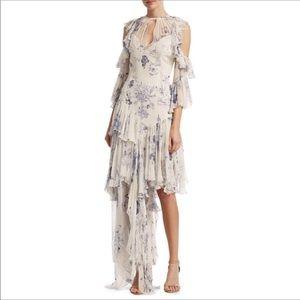 Cinq a sept chiffon layered dress